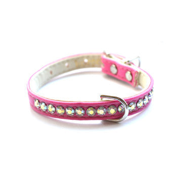 Jackie O Designer Hot Pink Dog Collar - Snooty Paws