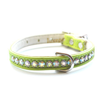 Matched Jackie O Designer Lime Dog Collar and Lead - Snooty Paws - 1