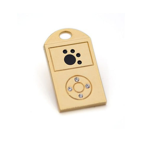 Gold iPaw ID Tag - Snooty Paws