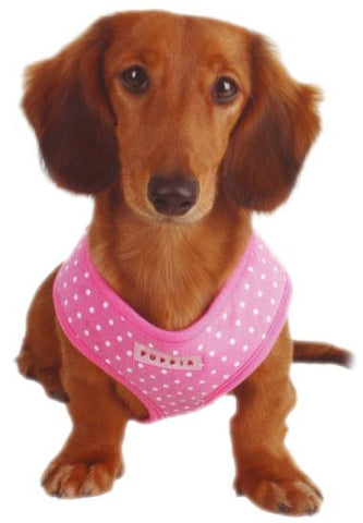 Puppia Pink Dotty Harness - Snooty Paws - 1