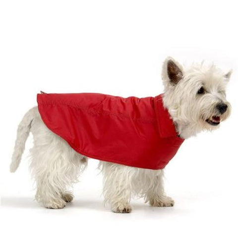 Dog Raincoat in Vibrant Red - Snooty Paws - 1