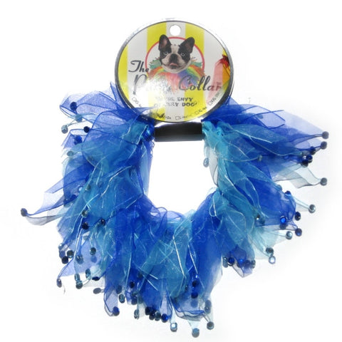 Rhinestone Blue Party Collar - Snooty Paws - 1