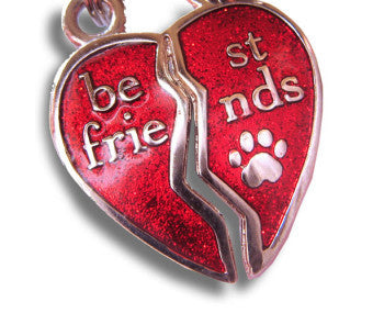 Best Friends Medallions/Tag - Heart shape - Snooty Paws