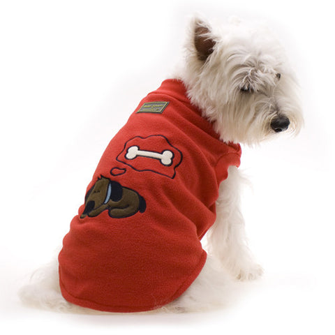 Sleeping Dog Pyjamas Red - Snooty Paws - 1