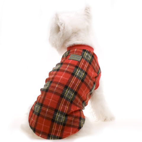 Red Tartan Pyjamas - Snooty Paws - 1