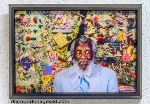 Dick Gregory Portrait in 3D.