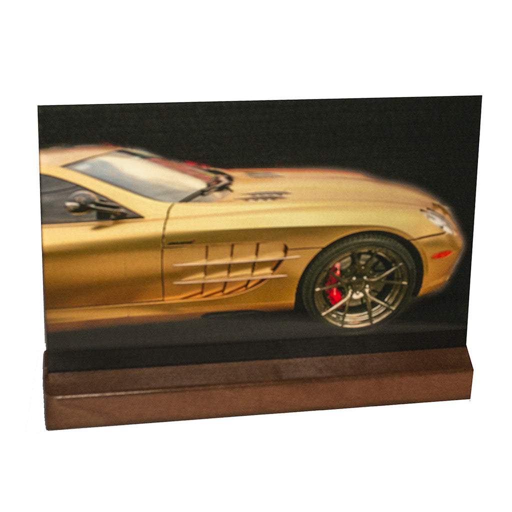 Mercedes McLaren in 3D  : Mini on Laquered Wood Plinth