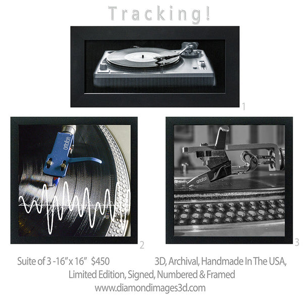 Tracking 1-2-3 Limited edition suite of 3-3D Turntables