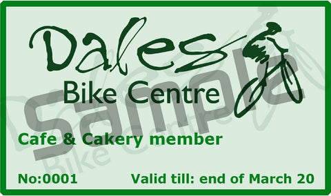 Cafe & Cakery Members Card