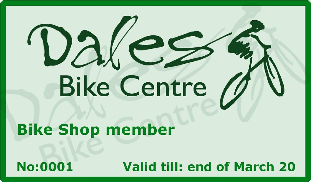 Bike Shop Members Card