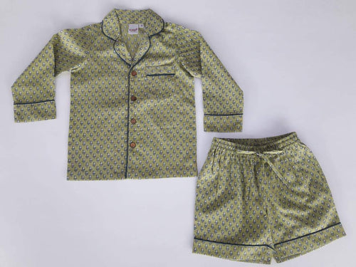 Unisex Green Printed 2 pc Set