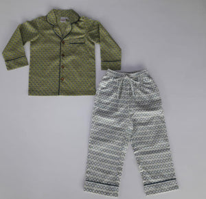 Unisex Printed Green 2 pc Set