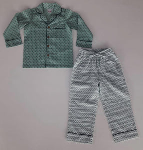 Unisex Printed Teal 2 pc Set