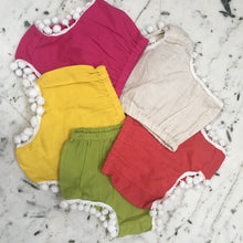 Set of 5 - Diaper Covers with Pom-Pom Lace Detail