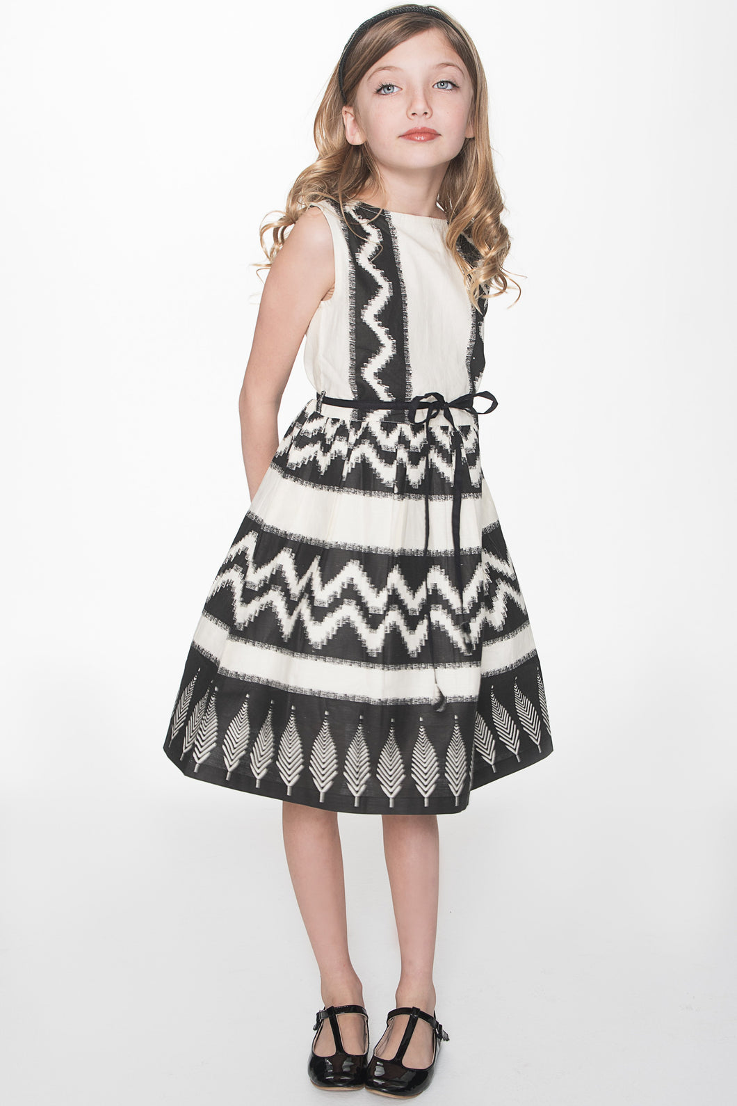 Black Tribal Print Dress - Kids Clothing, Dress - Girls Dress, Yo Baby Online - Yo Baby
