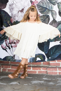 Off-White Angel Wings Dress - Kids Clothing, Dress - Girls Dress, Yo Baby Online - Yo Baby