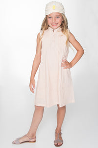 Blush Pin Tuck Detail Shift Dress - Kids Clothing, Dress - Girls Dress, Yo Baby Online - Yo Baby
