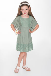 Teal Swing Dress - Kids Clothing, Dress - Girls Dress, Yo Baby Online - Yo Baby