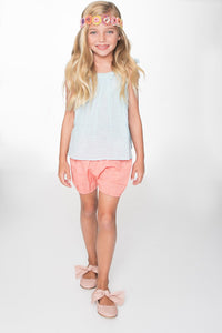 Pink Blue Shorts and Top 2pc. Set