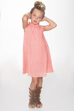 Peach Ruched Shift Dress - Kids Clothing, Dress - Girls Dress, Yo Baby Online - Yo Baby