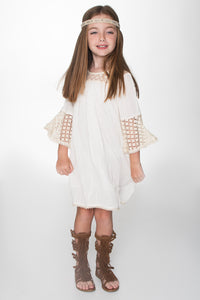 Off-White TARA lace Detail Swing Dress - Kids Clothing, Dress - Girls Dress, Yo Baby Online - Yo Baby