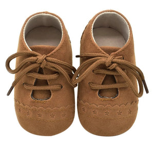Unisex mock suede moccasins - Camel - Kids Clothing,  - Girls Dress, Yo Baby Online - Yo Baby