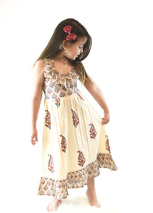 Floral Halter Maxi Dress - Kids Clothing, Dress - Girls Dress, Yo Baby Online - Yo Baby