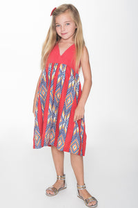 Red Halter Dress - Kids Clothing, Dress - Girls Dress, Yo Baby Online - Yo Baby