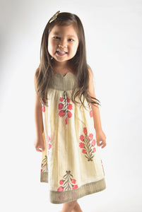 Sweetheart Neck Floral Dress - Kids Clothing, Dress - Girls Dress, Yo Baby Online - Yo Baby