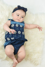 Limited Edition - Ruffled Indigo Top With Diaper Cover Set