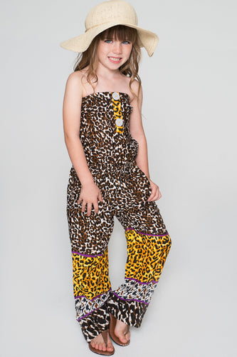 Limited Edition - Off Shoulder Animal Print Jumpsuit