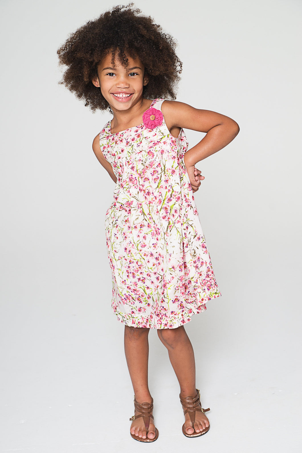 Cherry Blossom Inspired White Dress - Kids Clothing, Dress - Girls Dress, Yo Baby Online - Yo Baby