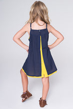 Blue and Yellow Layered Dress - Kids Clothing, Dress - Girls Dress, Yo Baby Online - Yo Baby