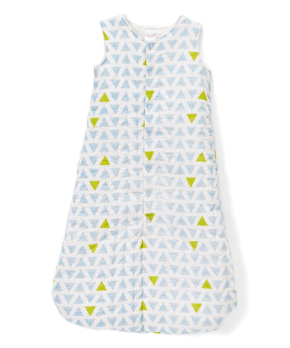 Blue & Yellow Triangles Sleeping Sack - Infant - Kids Clothing, Sleep Sack - Girls Dress, Yo Baby Online - Yo Baby