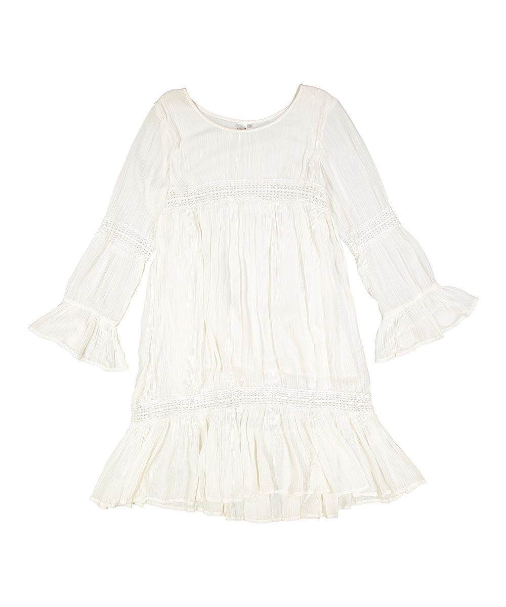 White Lace Dress - Kids Clothing, Shirt-Dress - Girls Dress, Yo Baby Online - Yo Baby