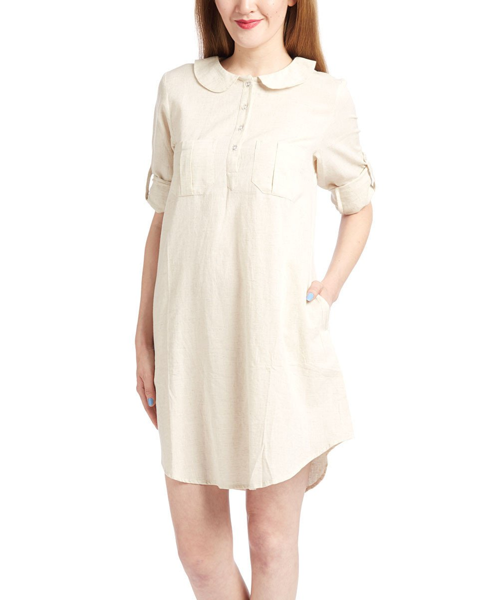 Off-white Shirt Dress - Kids Clothing, Dress - Girls Dress, Yo Baby Online - Yo Baby