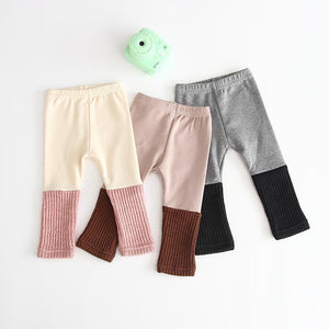 Dual Colour Ribbed Pants/Tights - Unisex