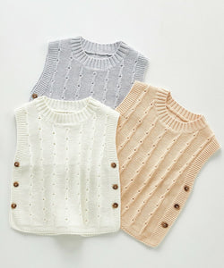 Infant Knitted Sweater Vest - Unisex