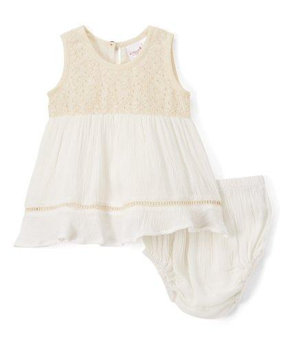 Lace Detail Infant Swan Dress - Kids Clothing, Dress - Girls Dress, Yo Baby Online - Yo Baby