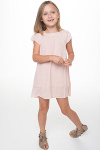 Light Pink Lace Dress - Kids Clothing, Dress - Girls Dress, Yo Baby Online - Yo Baby