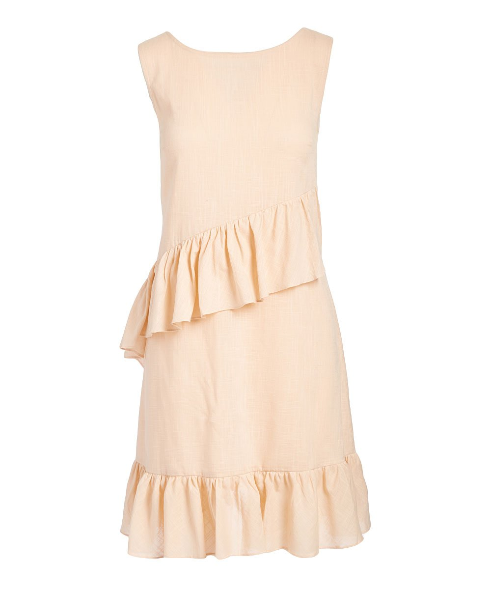Light Pink Ruffle Sleeveless Dress