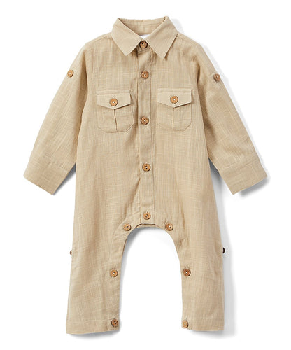 Boys Infant Full Sleeves Romper - Khaki