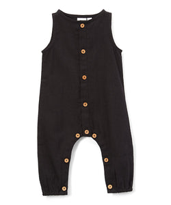 Boys Infant Sleeveless Romper - Black