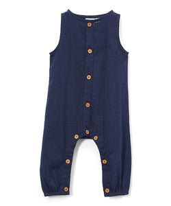 Boys Infant Sleeveless Romper - Navy