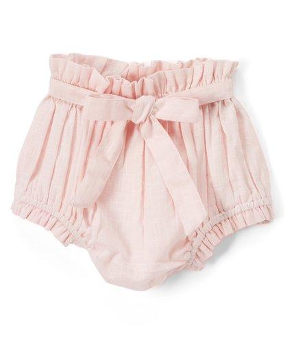 Set of 3 - Short - Style Diaper Covers with Belt. Ivory, Pink & Powder Blue.