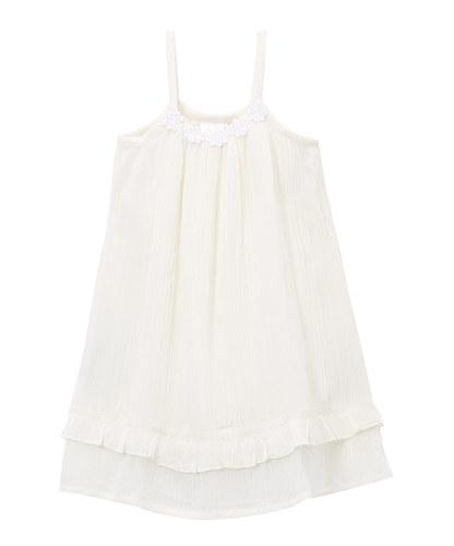 Off-white Flower Lace Detail Infant Dress - Kids Clothing, Dress - Girls Dress, Yo Baby Online - Yo Baby