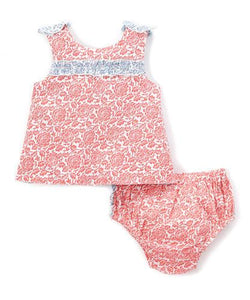 Red and Blue 2pc.set Top and Bottom - Kids Clothing, 2-pc. set - Girls Dress, Yo Baby Online - Yo Baby