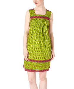 Parrot Green Shift Dress - Kids Clothing, Dress - Girls Dress, Yo Baby Online - Yo Baby