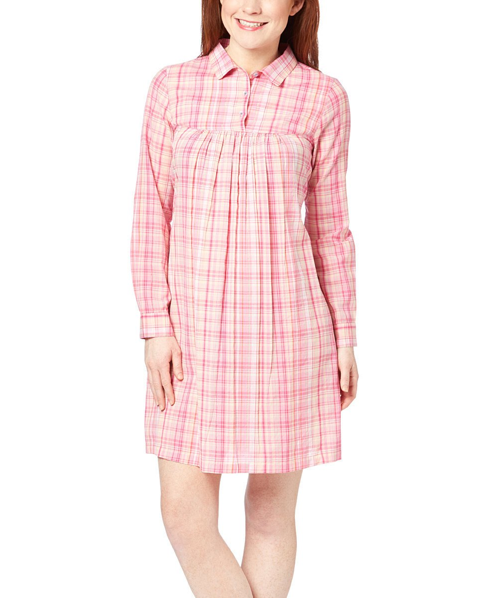 Pink Checks Dress - Kids Clothing, Shirt-Dress - Girls Dress, Yo Baby Online - Yo Baby