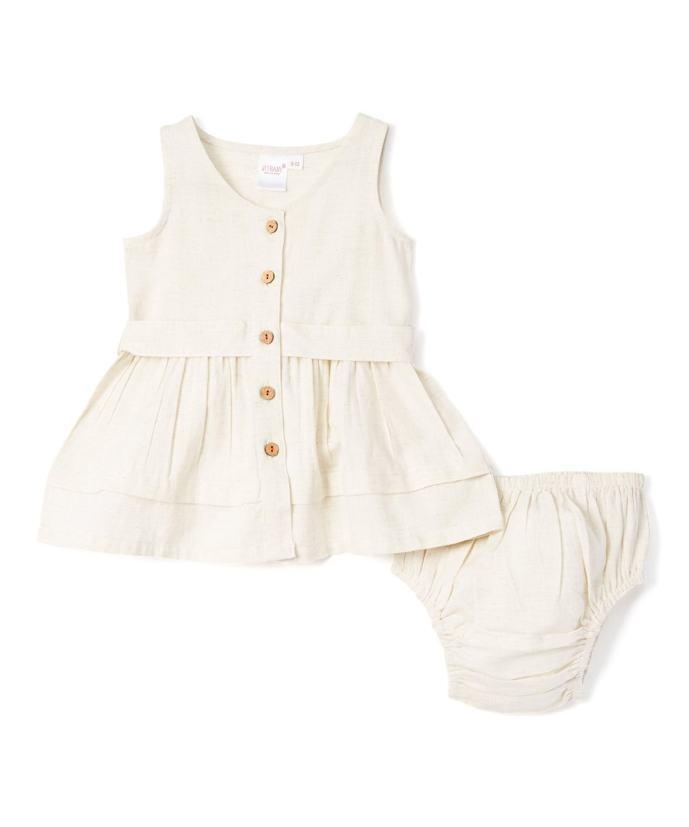 Off White Infant Shirt Dress - Kids Clothing, Dress - Girls Dress, Yo Baby Online - Yo Baby